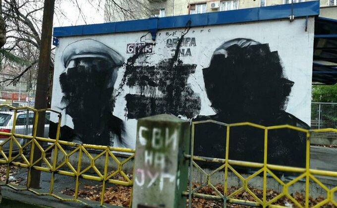 Vandali uništili murale Dušku Radoviću, Bori Todoroviću, Draganu Manceu...