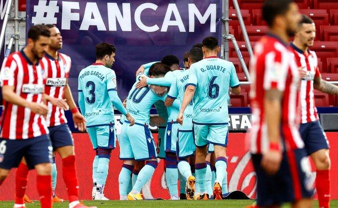 Levante drugi put koban po Atletiko u četiri dana, poraz nije jedina loša vest!