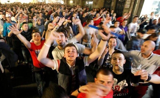 """'Karneval' u centru Beograda - Ovako su """"Delije"""" proslavile titulu!"""