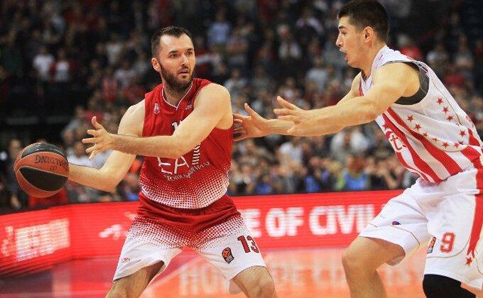 Olimpija Milano prebolela Zvezdu, Mačvan najbolji, srpski košarkaši tanki u osmom kolu LBA lige