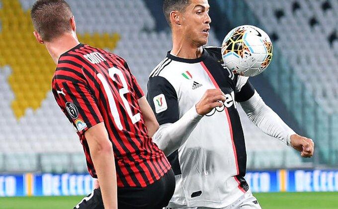 """Povratak fudbala u Italiji obeležili Ronaldo i Rebić, Juveu gol sa """"San Sira"""" doneo finale!"""
