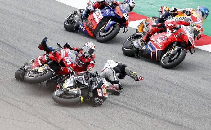 Moto GP - Kvartararo najbrži na ''Katalunji'', Rosi izleteo