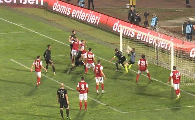 Sporni gol u Humskoj snimljen kamerom TV Partizan