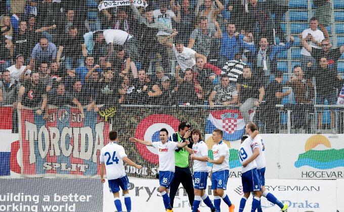 Hajduku ublažena kazna, protiv Brondbija sa navijačima