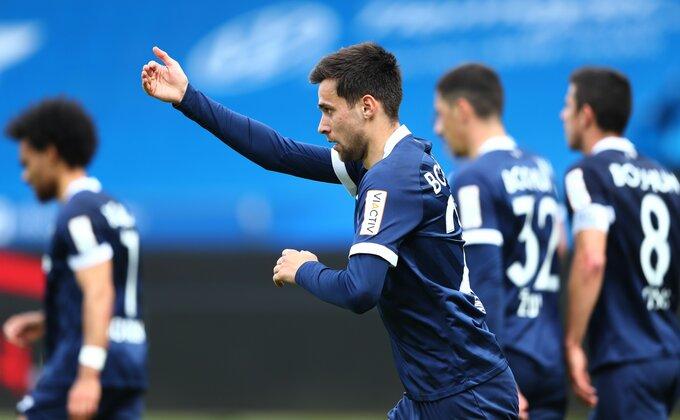 Bivši fudbaler Bajerna i mladi reprezentativac Srbije postigao prvenac u novoj sezoni