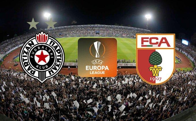 UTAKMICA ODLUKE - Partizan vs Augsburg 1:3 (KRAJ)