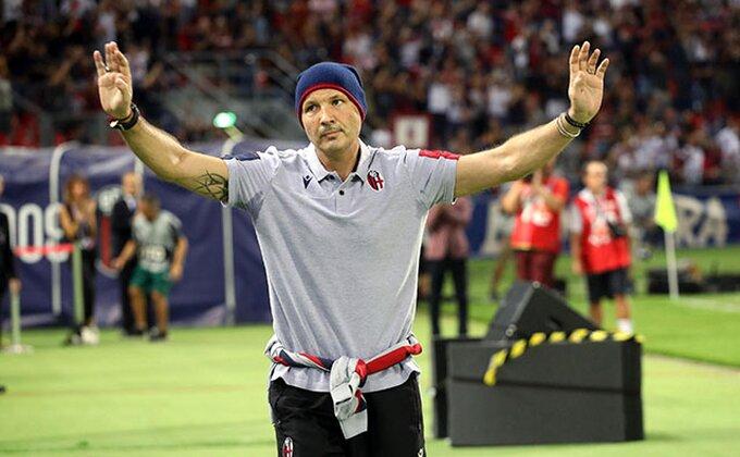 Veliki Miha dobio ovacije u Bolonji, igrači ga obradovali pobedom!