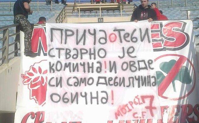 Poruka navijača Olimpijakosa za Stojketa...