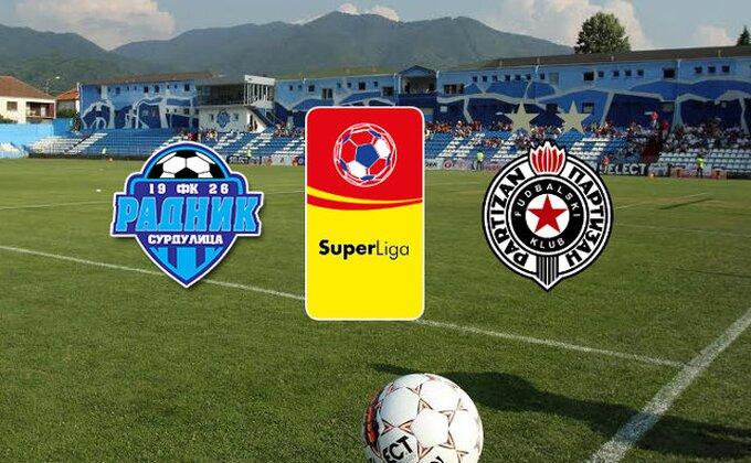 SL: Radnik - Partizan 2-2 (KRAJ)