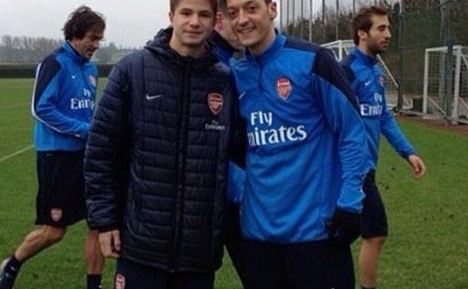 Filip Tasić na probi u Arsenalu!