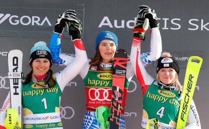 Vlhova pobedila u slalomu u Kranjskoj Gori