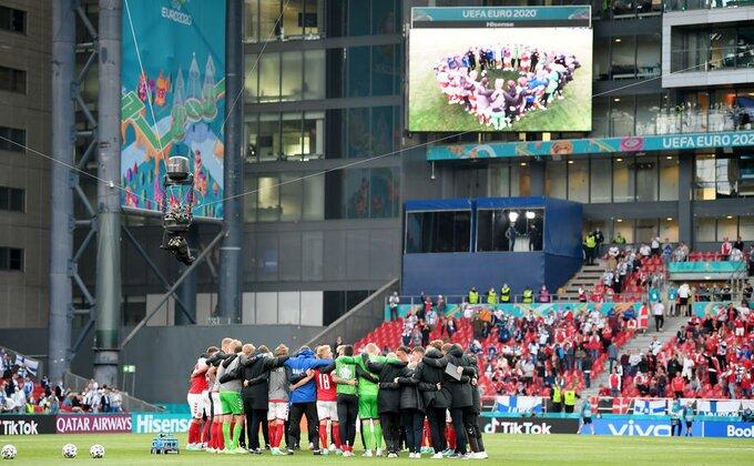 UEFA o svojoj odluci da se nastavi utakmica Danske i Finske
